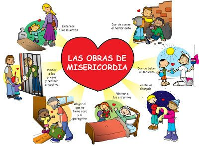 Dibujos para catequesis: LAS OBRAS DE MISERICORDIA                              …