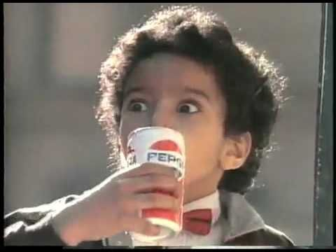 ▶ Michael Jackson Pepsi Commercial - YouTube (and FYI, that mini-Michael is Alfonso Ribeira aka Carlton Banks from Fresh Prince of Bel Air!)