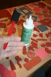 How to make unmounted stamps sticky for use on acrylic pads.