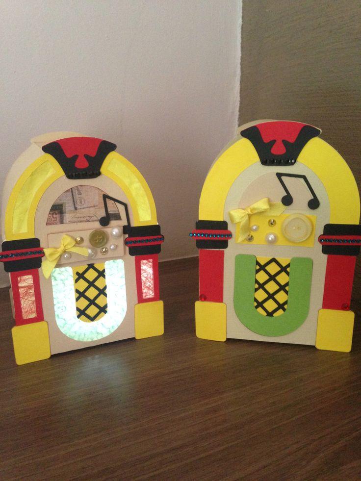 Jukebox - Card and box @svg