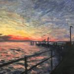 Oil Painting Lesson – Fraser Island Sunset On The Jetty