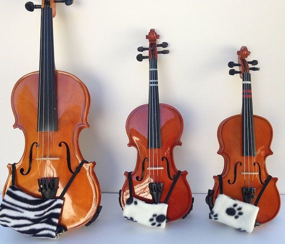 1/10, 1/8, 1/4, 1/2, 3/4 or 4/4 violin size - Comfortable Violin Chin Rest and Neck Cover