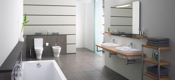 Collectie Washpoint | Ideal Standard:  Comfort als doel  Ruime proporties en strakke vormgeving, bovendien past Washpoint zich bovendien aan aan elk badkamer budget. Comfort is gegarandeerd, alleen of in gezelschap.