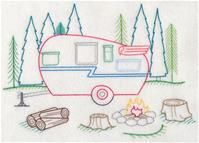 Machine Embroidery Designs at Embroidery Library! - A Happy Campers (Vintage) Design Pack - XL