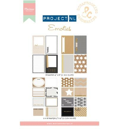Marianne Design Project NL Card set - Emoties