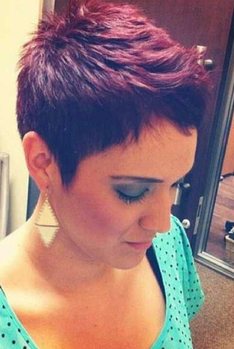 Purple pixie / short hair