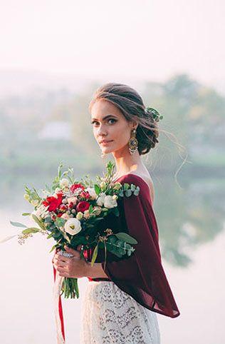 Осенняя невеста: 30 идей для макияжа и прически - The-wedding.ru