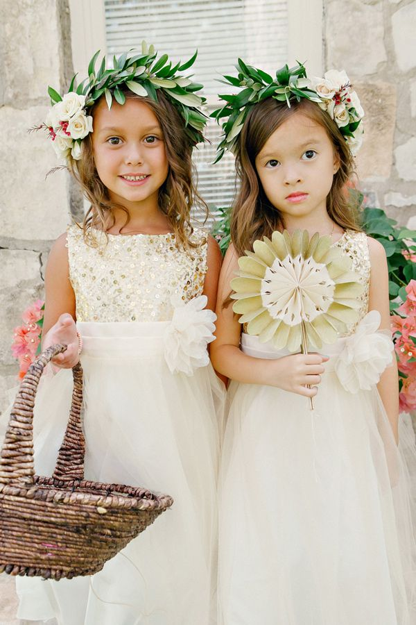flower girls - photo by Katherine OBrien Photography…