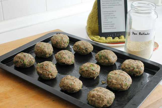 Eggplant Meatballs ~ Freezer and Omnivore Friendly ~ Lydia's Flexitarian Kitchen
