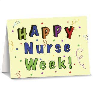 To all the dedicated, hard working nurses, I hope you have a great week.