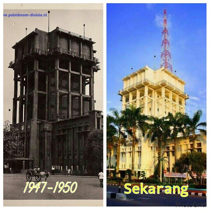 Watertoren en gemeentehuis (1947-1950) , sekarang Kantor Walikota, Palembang