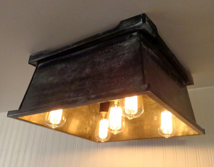 kitchen ceiling light fixture shown with edison bulbs repurpose recycle by lampgoods on etsy https