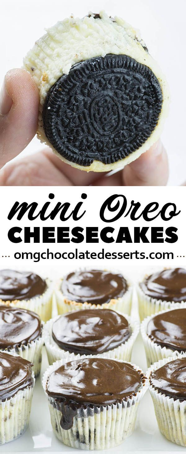 Mini Oreo Cheesecake is simple and easy recipe with only a few ingredients for delicious bite-sized Oreo cheesecake with a thick layer of silky ganache on top.