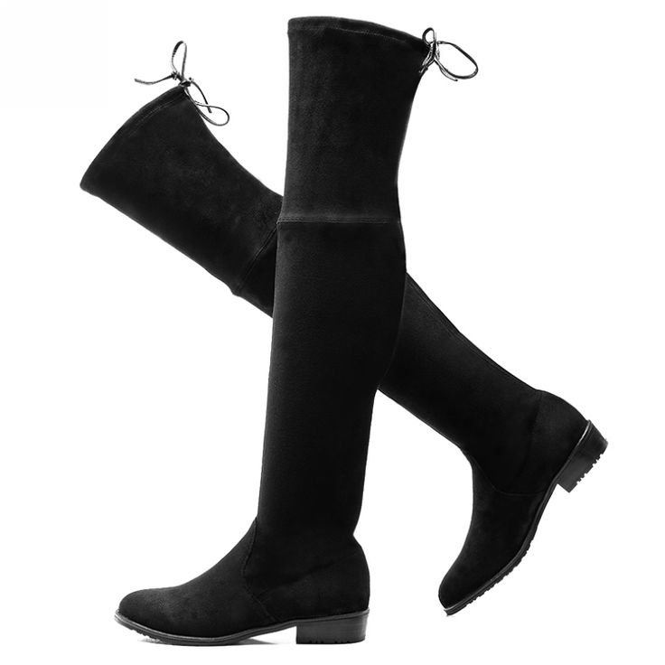 Женская Растянуть Замши За Колено Высокие Сапоги Сексуальная Мода Кружева Тонкий Искусственной Кожи Высокие Сапоги Женщины Зимняя Обувь #women, #men, #hats, #watches, #belts, #fashion, #style