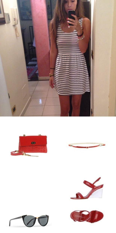 How to spice up a striped cotton dress!  #summer2014 #dress #jaqardapp #jaqard