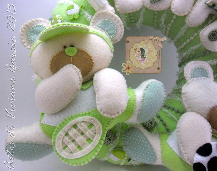 Porta Maternidade Ursinho tenista e Ursinho jogador de futebol e-mail - artesdivivianegarcia@yahoo.com.br