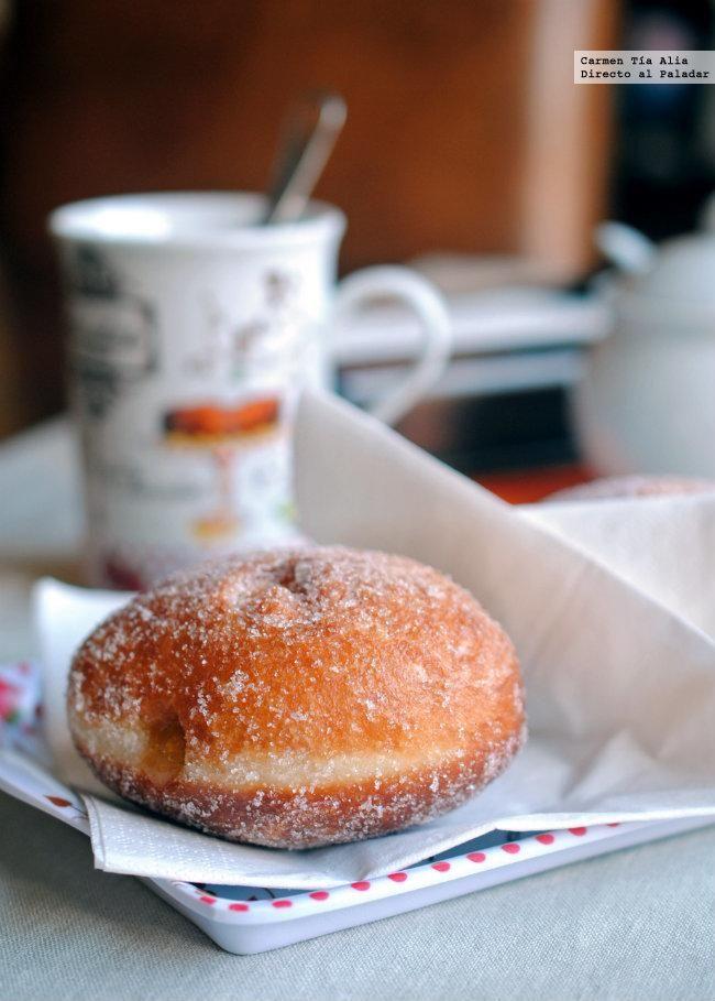 Directo al Paladar - Receta de donuts rellenos de mermelada con masa madre