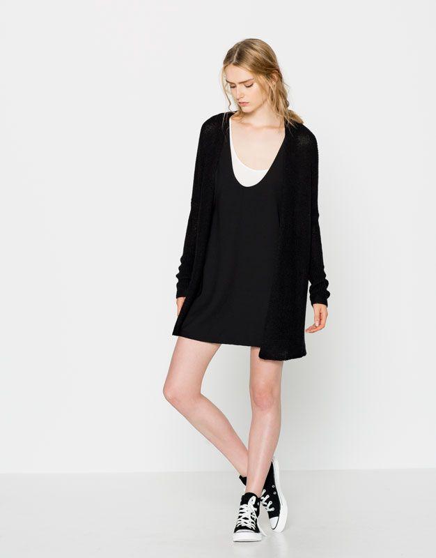 Veste silhouette arrondie - Maille - Vêtements - Femme - PULL&BEAR Belgique