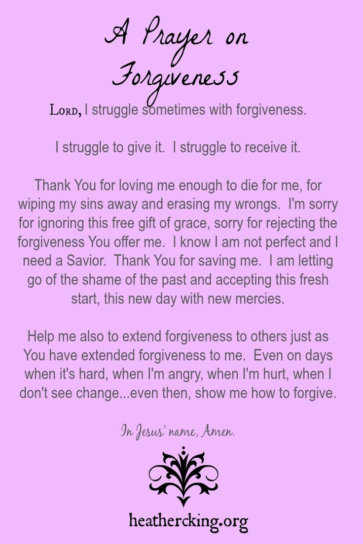 A prayer on Forgiveness