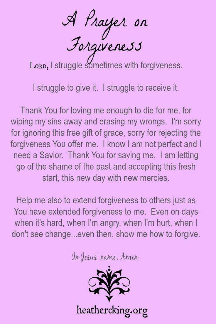A prayer on Forgiveness
