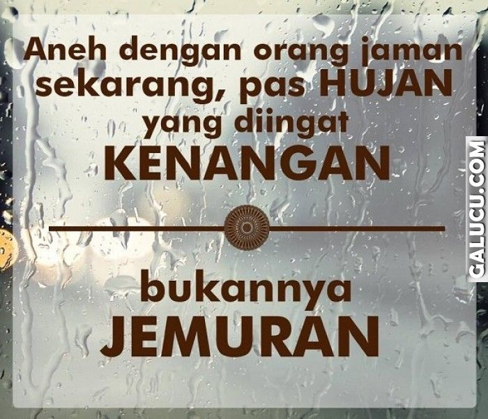 Pas hujan yang diingat kenangan