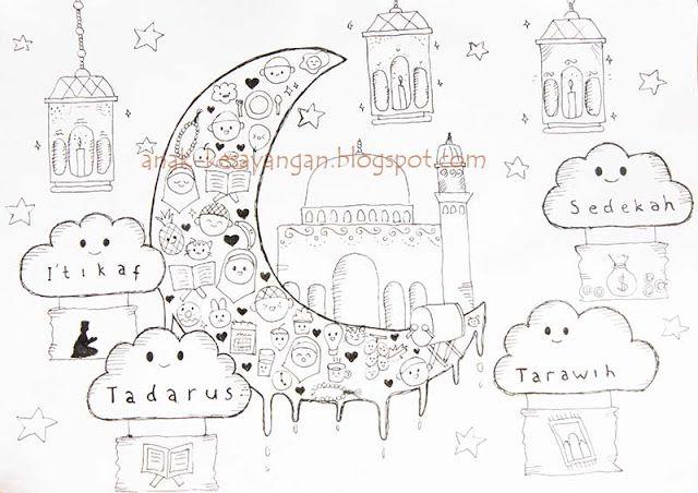 Anak Kesayangan Gambar Mewarnai Tema Ramadhan Dan Syawal Bebas Und