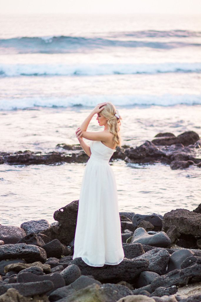 Destination Beach Bridal Session Hawaii