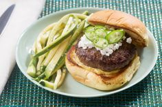Serrano+Pepper+&+Goat+Cheese+Burgers+with+Zucchini-Cilantro+Slaw.+Visit+https://www.blueapron.com/+to+receive+the+ingredients.
