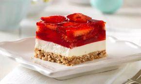 Strawberry Pretzel Salad Squares – WW Recipes & Tips.