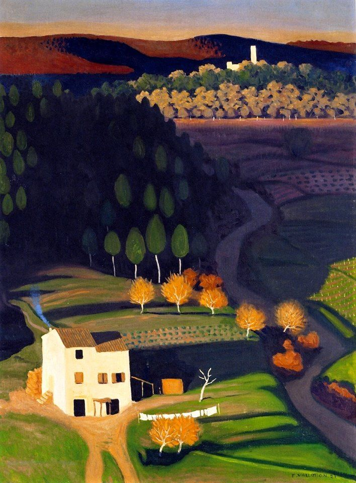 Félix Edouard Vallotton (Swiss, Magic Realism, 1865–1925): First Rays, 1921. Oil on canvas, 81.5 x 60.2 cm (32 x 23.8 inches). Private Collection.