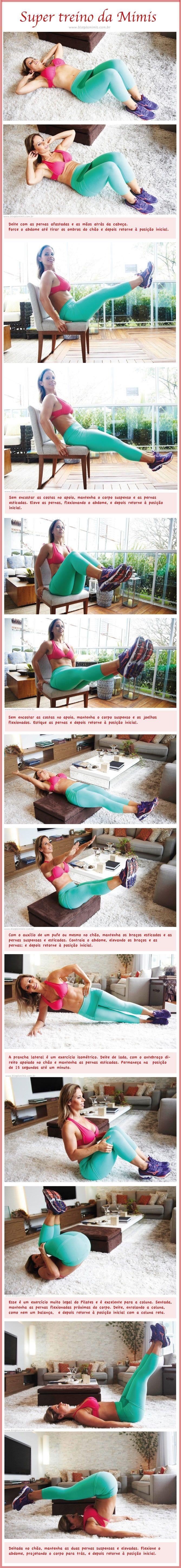 Super treino abdominal: faça em qualquer lugar - Blog da Mimis