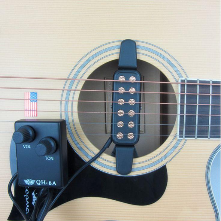 Diseño Del Agujero de Sonido de Reverberación Acústica Recolección de la guitarra Partes De Guitarra de Recogida Amplificador de Guitarra Accesorios Para Instrumentos Musicales