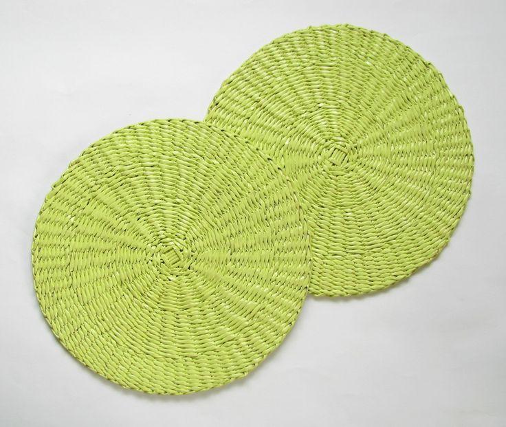 Wiosenne podkładki na stół z wikliny papierowej | http://dekoeko.com/product/wiosenne-podkladki-na-stol-zestaw/ | Kup na www.dekoeko.com