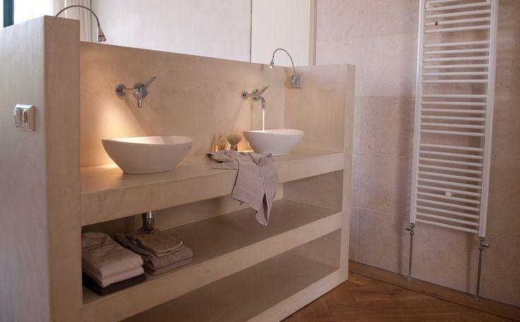 badkamermeubel in beton cire afgewerkt - DIY