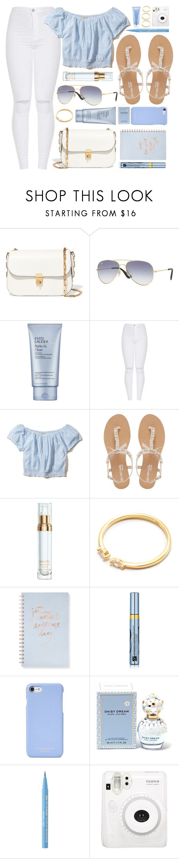 """""""Light"""" by smartbuyglasses ❤ liked on Polyvore featuring Valentino, Ray-Ban, Estée Lauder, Hollister Co., Head Over Heels by Dune, Sisley, Fringe, Aspinal of London, Marc Jacobs and Too Faced Cosmetics"""