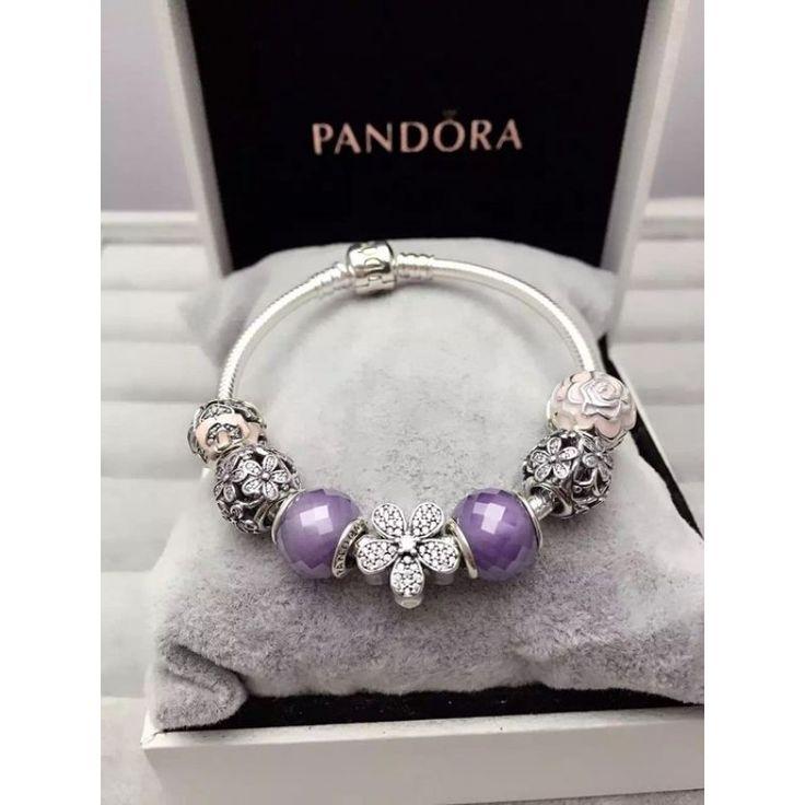 Pandora Bracelet Charms Cheap: %70 Off.$125 Pandora Finished Charm Bracelet
