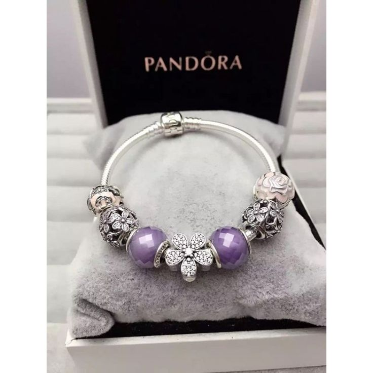 Inexpensive Charm Bracelets: %70 Off.$125 Pandora Finished Charm Bracelet