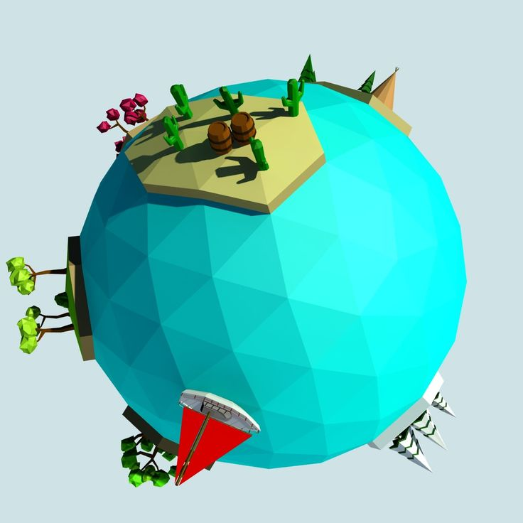Cartoon low poly planet islands, Paulsen Design on ArtStation at https://www.artstation.com/artwork/98qeN