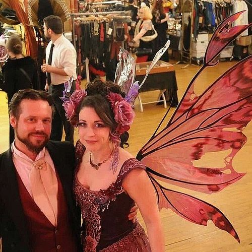 Us at the ball. Photo by @crazyezra #edwardianball #fancyfairy #fairywings #fairycostume | Flickr - Photo Sharing!