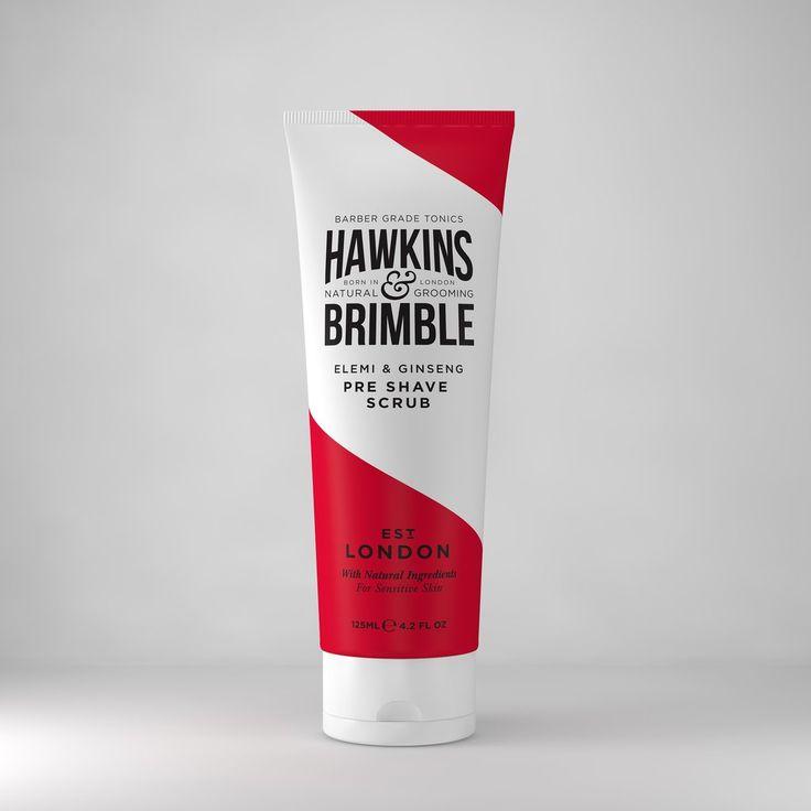 Hawkins & Brimble Pre Shave Scrub Box 125ml  www.hawkinsandbrimble.co.uk