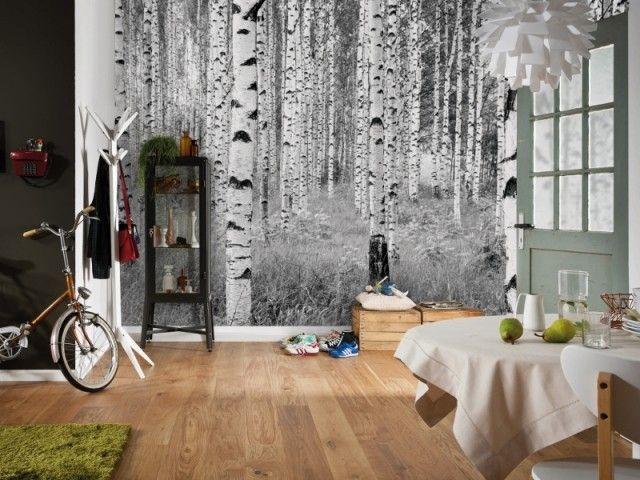 Un Papier Peint Panoramique En Lien Avec L Exterieur Leroy Merlin Fotobehang Beschilderde Muur Thuis Behang