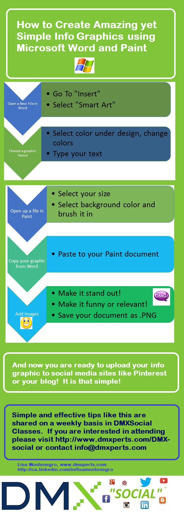 How to Create Amazing, yet simple infographics using Microsoft Word and Paint.