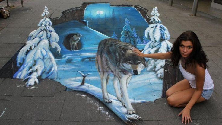 Невероятные 3D граффити иллюзий удивительный Стрит-Арт, иллюзии Wallpaperscharlie