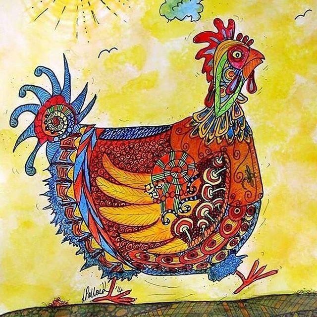 Throwback .... Chicken...chook...hen  With a Aztec look ©Lyn Pollock Artist  #lynpollock #artistic_dome #nzartist #chooks #chicken #hensofinstagram #hens #art_worldly #feature_me #arts_creative #art_4share #art_spotlight #pen #handmadenz #art_we_inspire #sketch_daily #illustrateyourworld #ilustration #artistic_unity #artistic_features #artistic_unity #blvart #inkedartgroup #drawsomethingshowcase #handsofenergy #backyardchickens #artistic_artshare