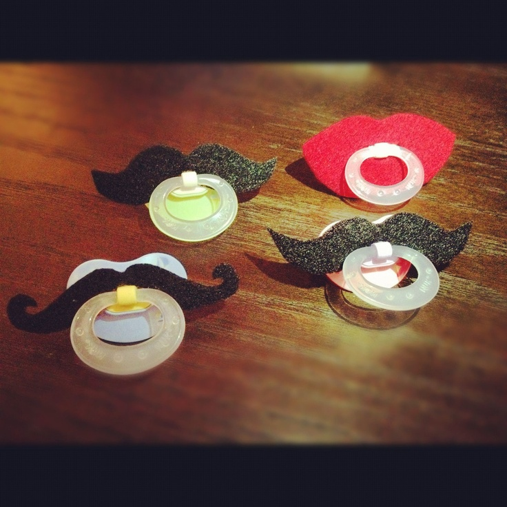 Mustache Pacifier  Black Strongman by BabyHipsters on Etsy, $9.00