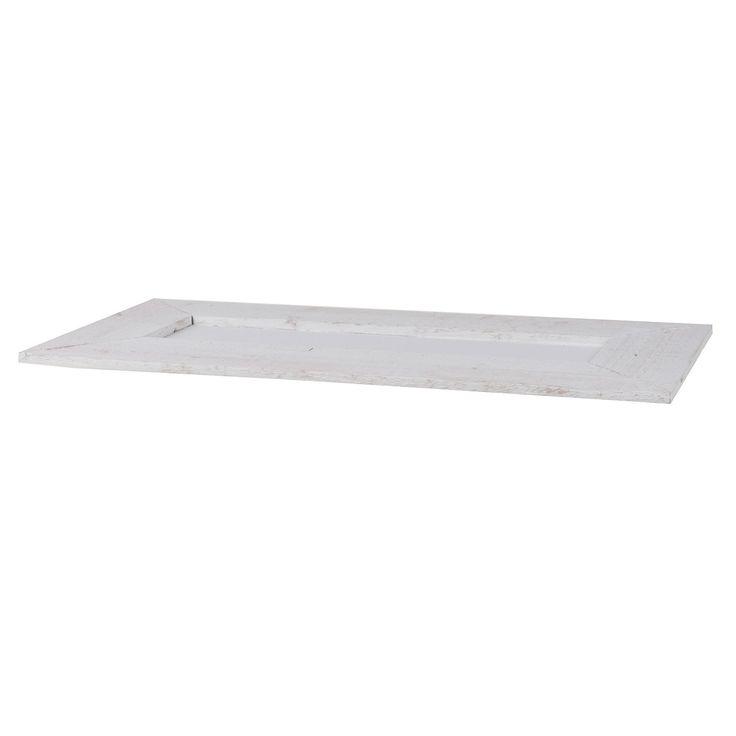 Mooi houten dienblad van bijna 60 cm breed. Leuk voor op tafel als presenteer- of serveerschaal. Afmeting: 59 x 27 x 2 cm - Groot Houten Blad