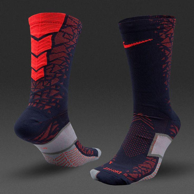 Nike Elite Hypervenom Crew Socks - Obsidian/Total Crimson/Freeney Dwight