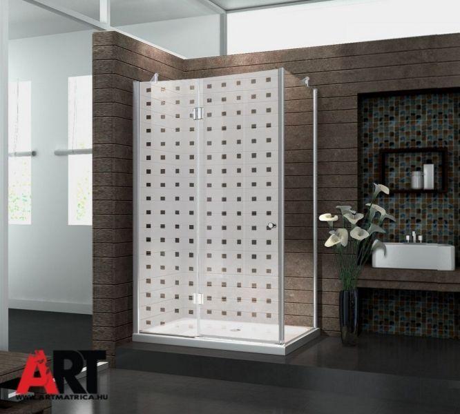 Zuhanykabin matrica  Négyzetek, nem csak zuhanykabinra, bármilyen más üveg felületre megfelel.