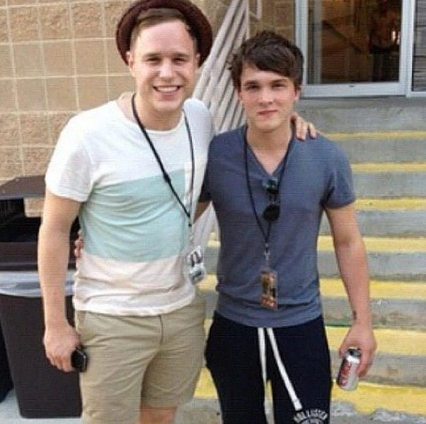 Josh Devine with Olly Murs. Not Bad.