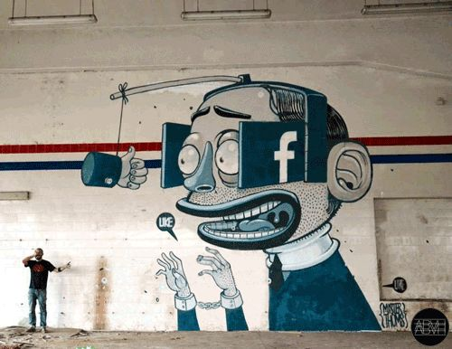 indiesignblg:  Street Art Transformed into Cool GIFs Animations... Indiesign Street Art Motion Graphics Social Criticism GIF Animation Blg Design